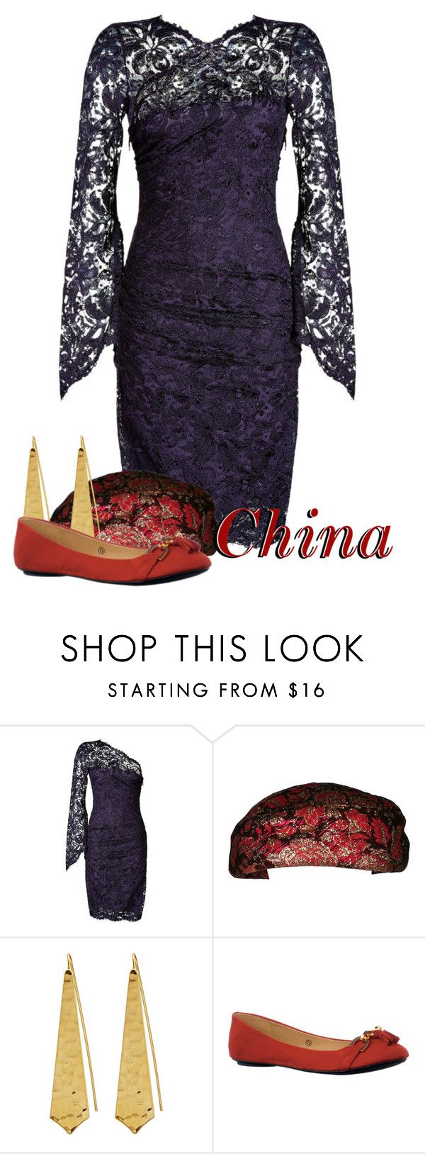 """""""China Halloween"""" by bluetidegirl ❤ liked on Polyvore featuring Emilio Pucci and Panacea"""
