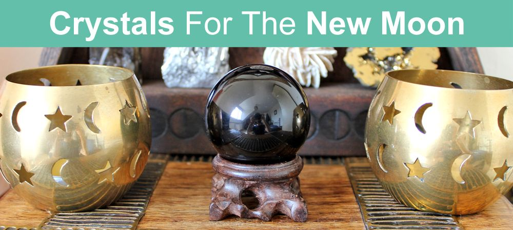 Crystals for the new moon intentions ceremony energy
