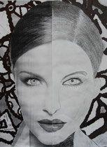 Halbportrait zeichnen, Klasse 6, Anke Kremer