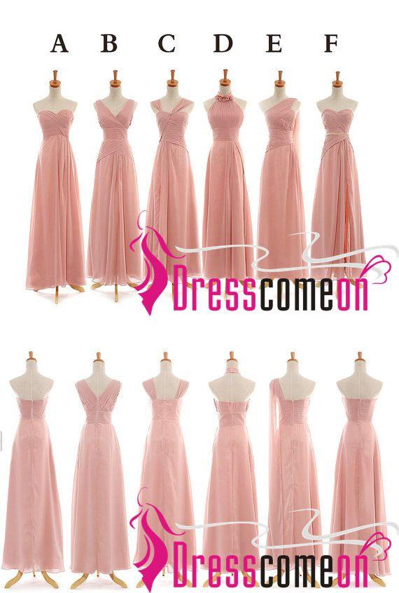 On Sale Chiffon Bridesmaid Dress,Long Bridesmaid Gown,Chiffon ...