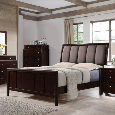 Coaster Furniture Madison Upholstered Sleigh Bed Queen
