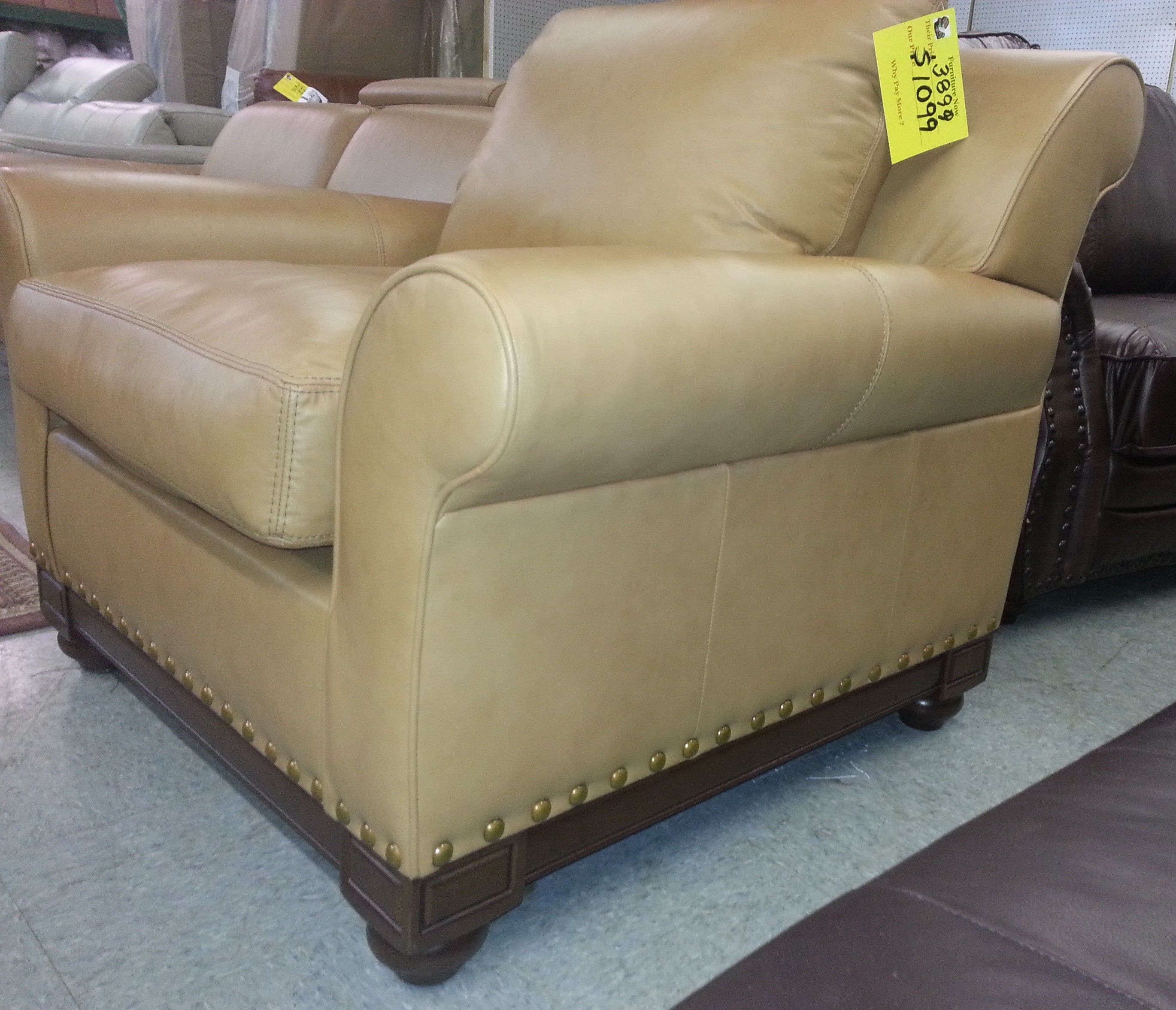 Echo Park By Elite All Leather Chair With Nail Head Offer