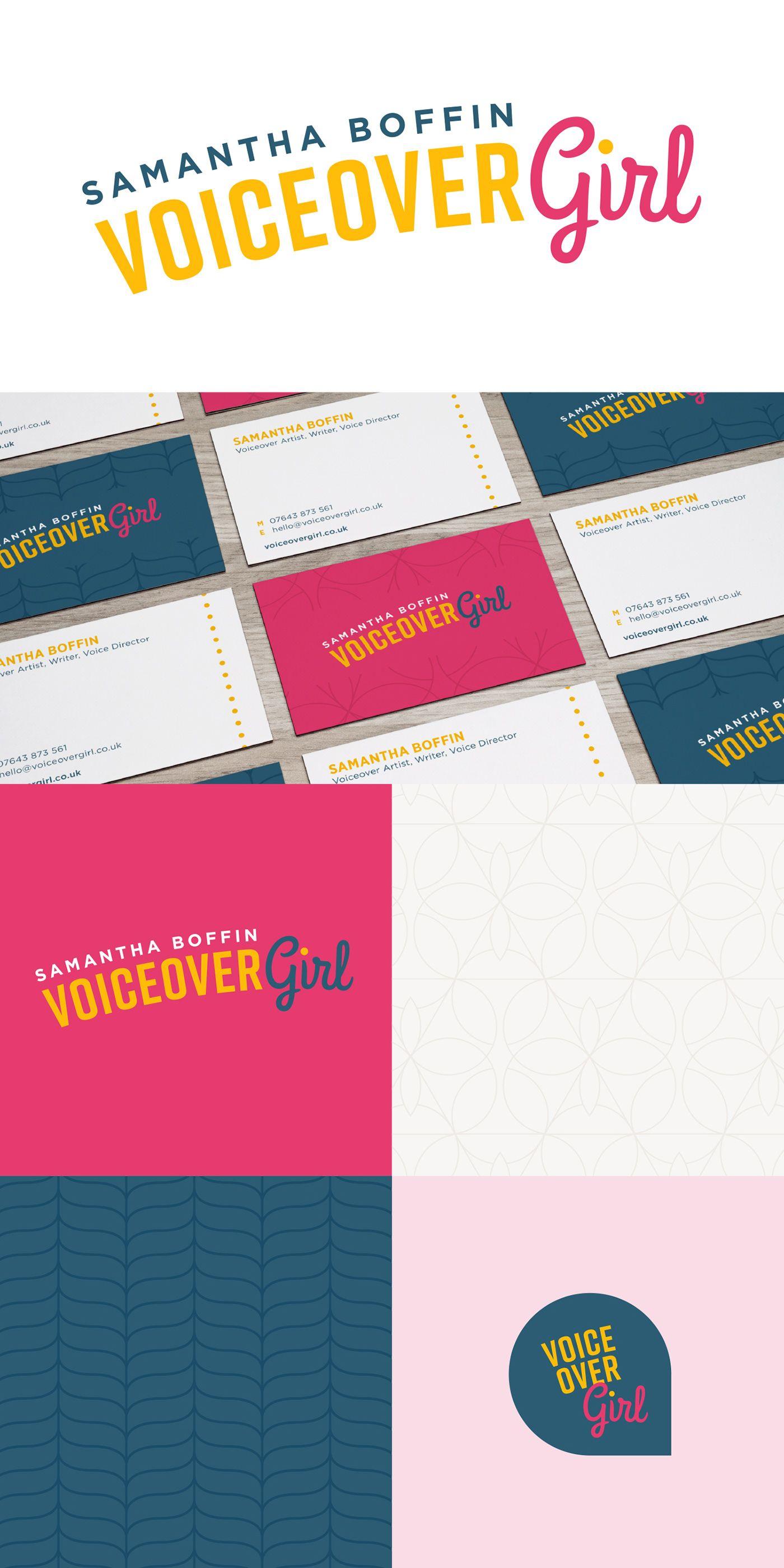 Voiceovergirl Branding On Behance Business Card Design Inspiration Branding Elegant Business Cards Design