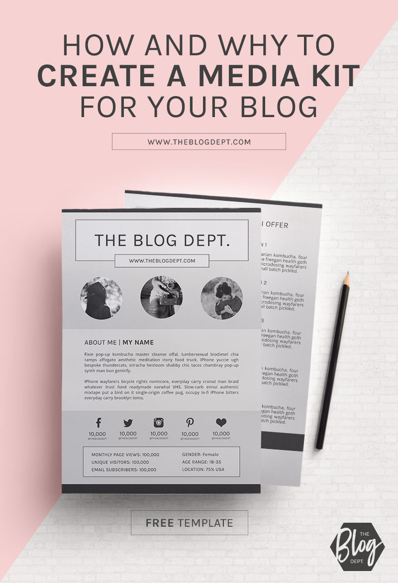 how and why to create a media kit for your blog free template