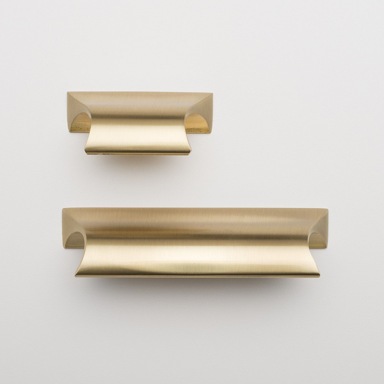 Card File Pull - Natural Brass | Cocinas