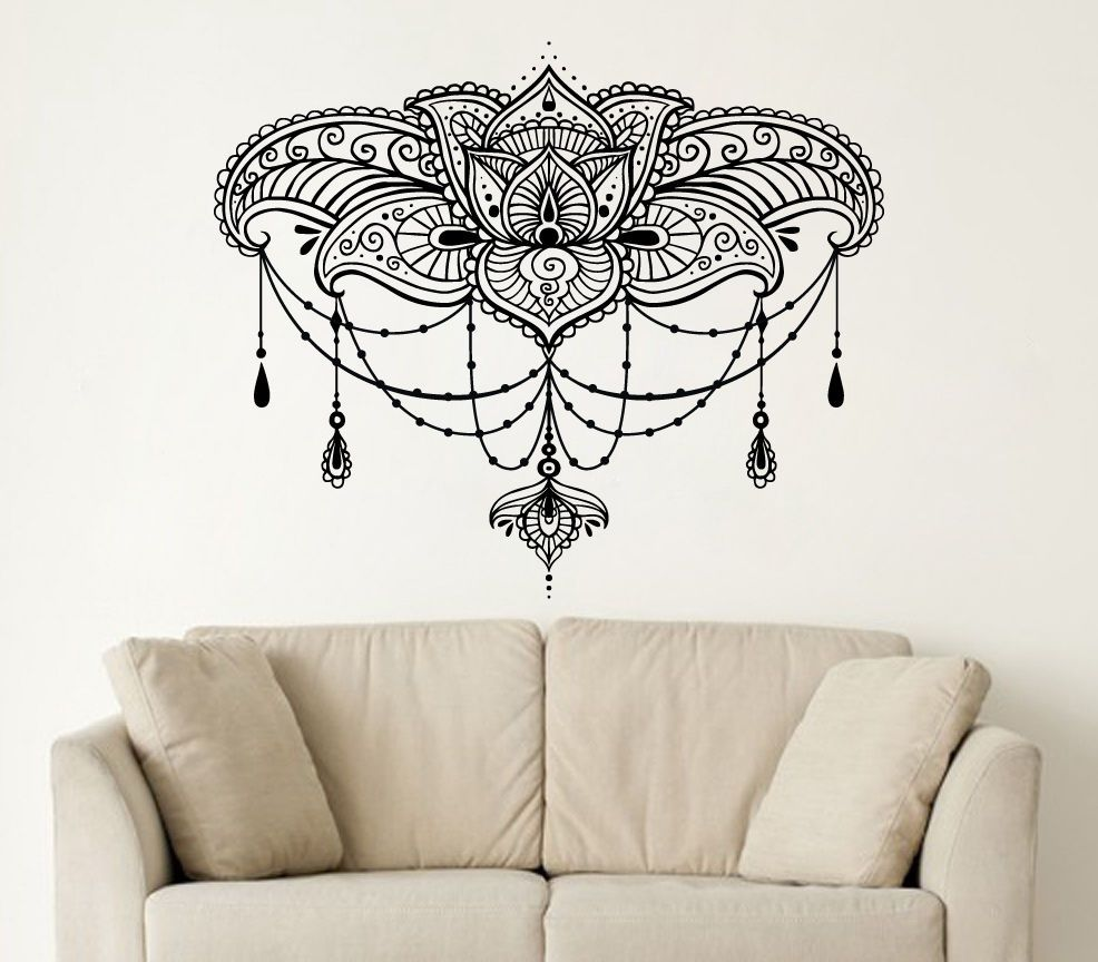Exceptional Wall Decals Yoga Lotus Namaste Indian Buddha Decal Vinyl Wall Sticker Home  Decor Adesivo De Parede