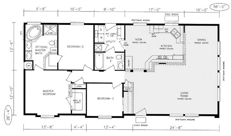 Champion manufactured home floor plans champion modular for Mobile home layouts and prices