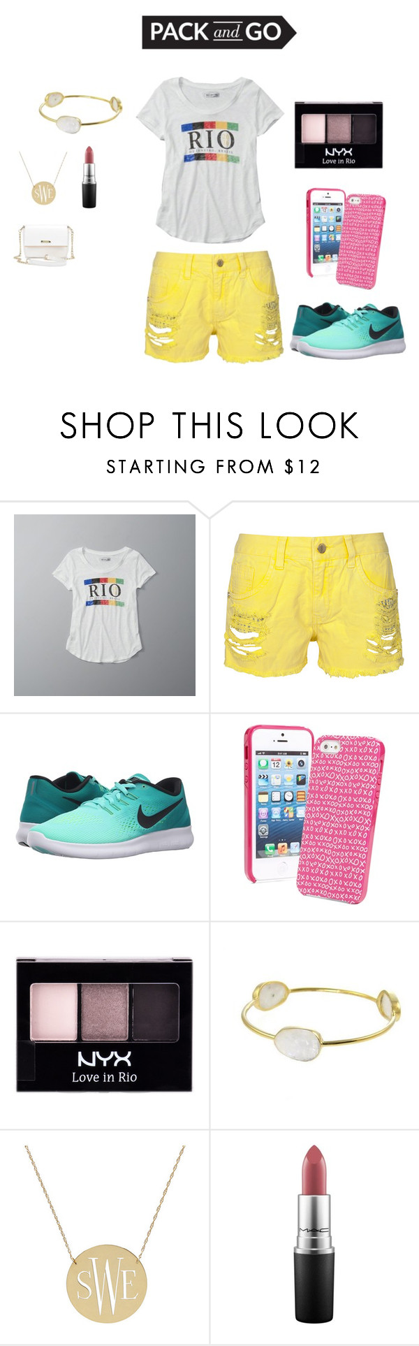 """Rio2016"" by bearteddyblitz on Polyvore featuring Abercrombie & Fitch, NIKE, Vera Bradley, NYX and MAC Cosmetics"