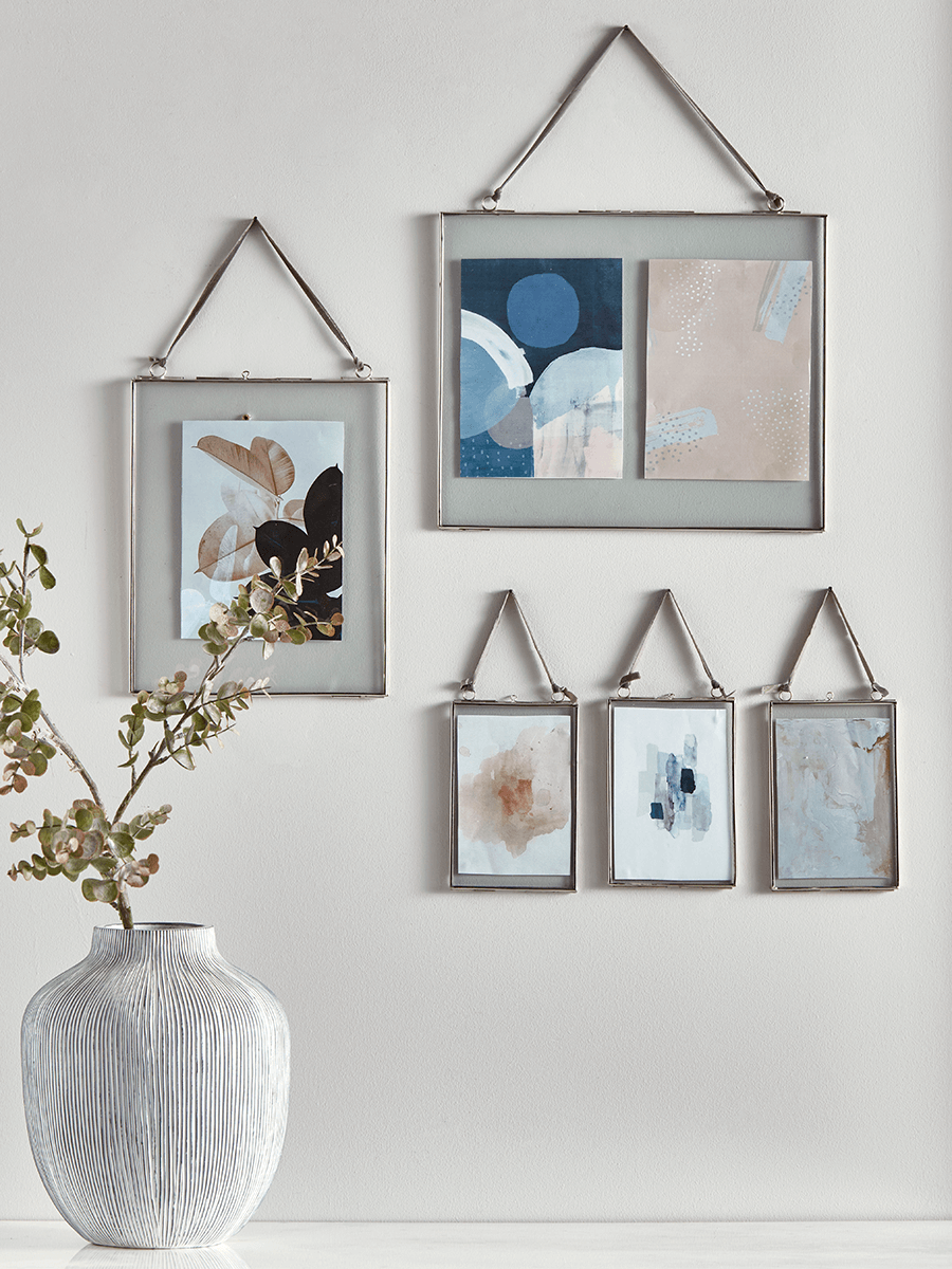 Delicate Hanging Glass Frame - Silver - Decorative Photo & Picture ...