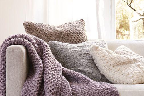 strickdecke und strickkissen strickanleitung kissen und. Black Bedroom Furniture Sets. Home Design Ideas