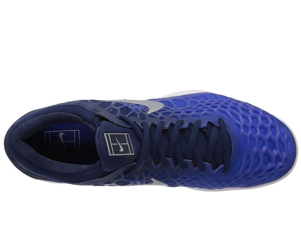 online retailer 38bc3 ec910 3 Cage Tennis Silver Hc Sko Nike Zoom Navymetallic Midnatt Menns xw16q