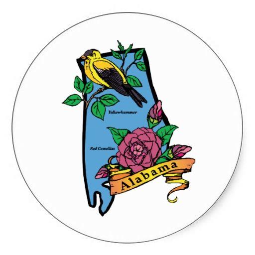 Alabama AL Vintage Travel Art Stickers #Stickers #States