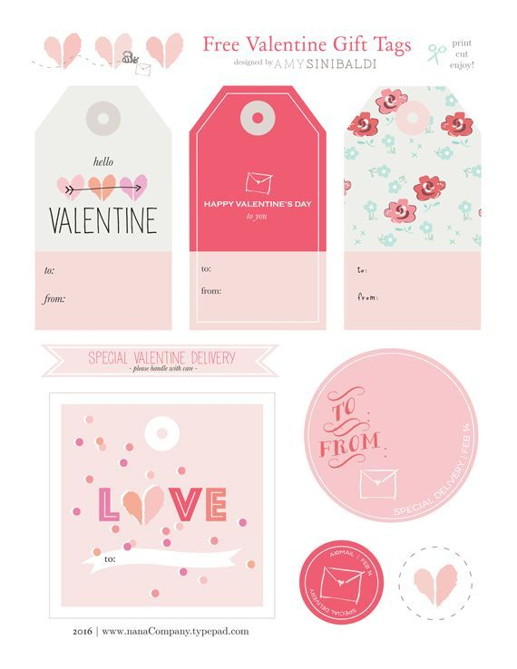 photo regarding Free Printable Tags known as Valentine Present Tags stickers stik No cost printable reward tags