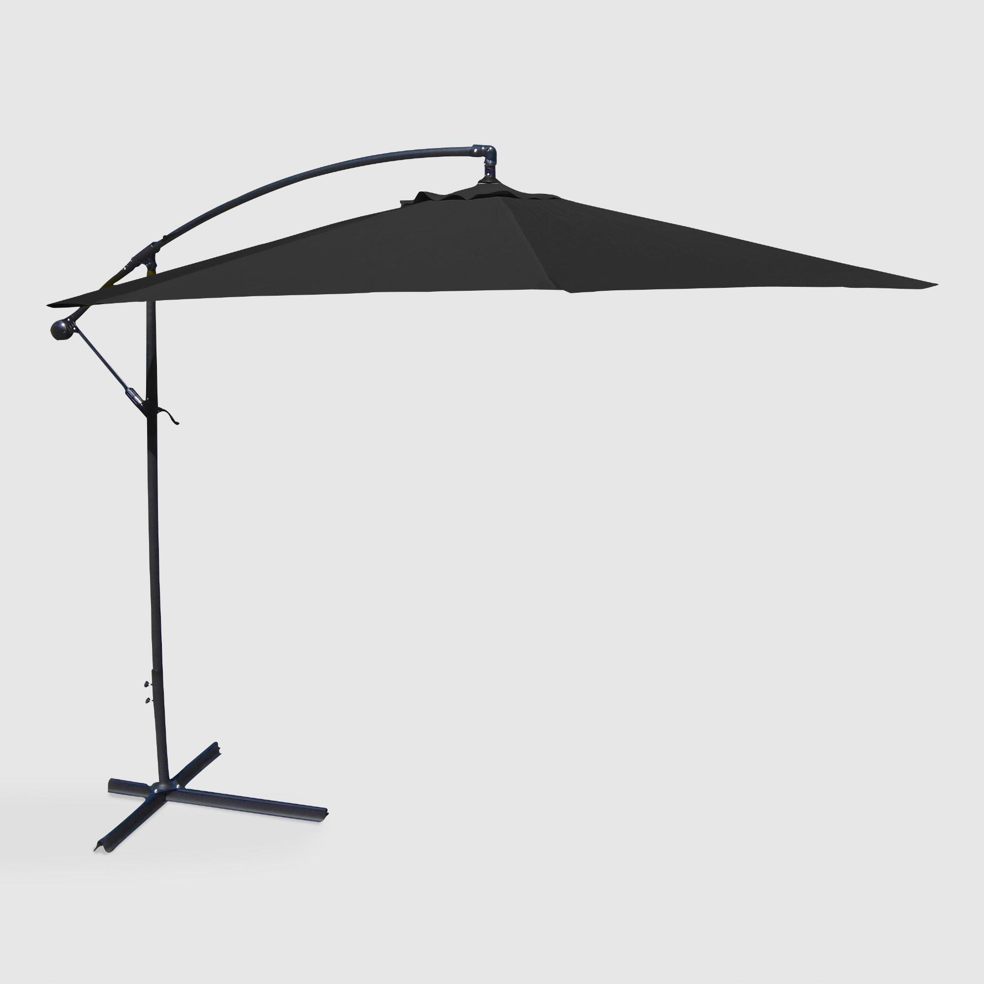Black Cantilever Outdoor Patio Umbrella Fabric By World