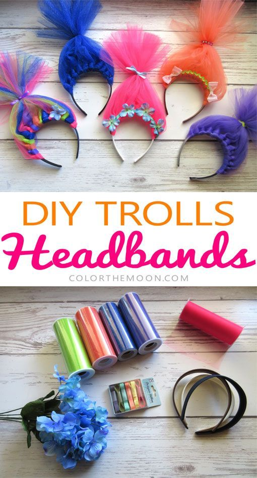 These Trolls Hair Headbands Are SO CUTE And So Easy To Make What A Great Idea For Birthday Party