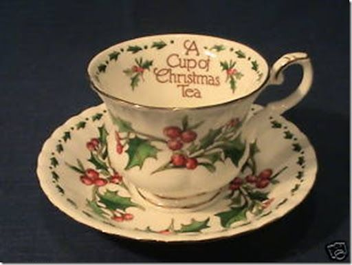 a cup of christmas tea cup and saucer - A Cup Of Christmas Tea