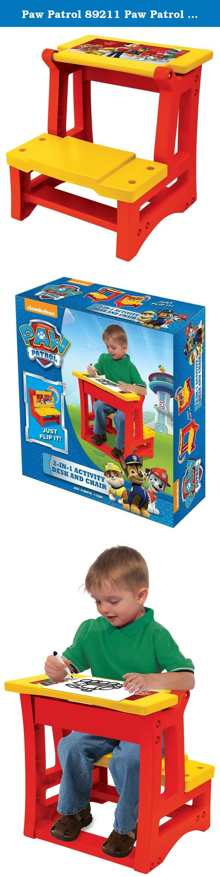 Marvelous Paw Patrol 89211 Paw Patrol 2 In 1 Activity Desk And Chair Creativecarmelina Interior Chair Design Creativecarmelinacom