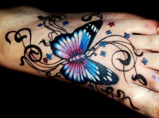 e8b8d3975 40 Creative Butterfly Tattoos For Inspiration   Tatoos I Like   Feet ...