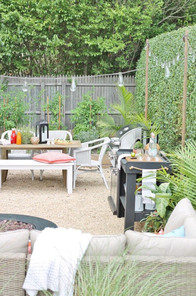 Diy Pea Gravel Patio Hamptons Inspired Small Backyard