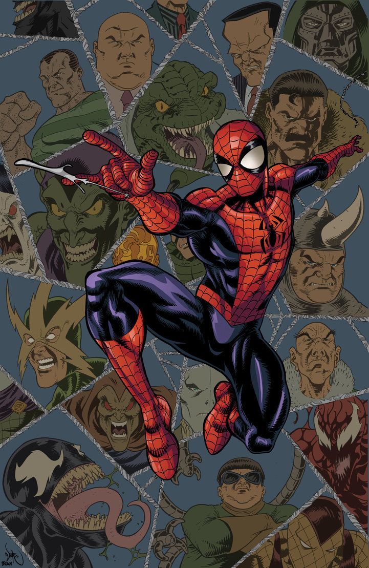 #Spiderman #Fan #Art. (Spider-Man and Classic Villains) By: Timothy-Brown. (THE * 5 * STÅR * ÅWARD * OF: * AW YEAH, IT'S MAJOR ÅWESOMENESS!!!™)[THANK Ü 4 PINNING!!!<·><]<©>ÅÅÅ+(OB4E)