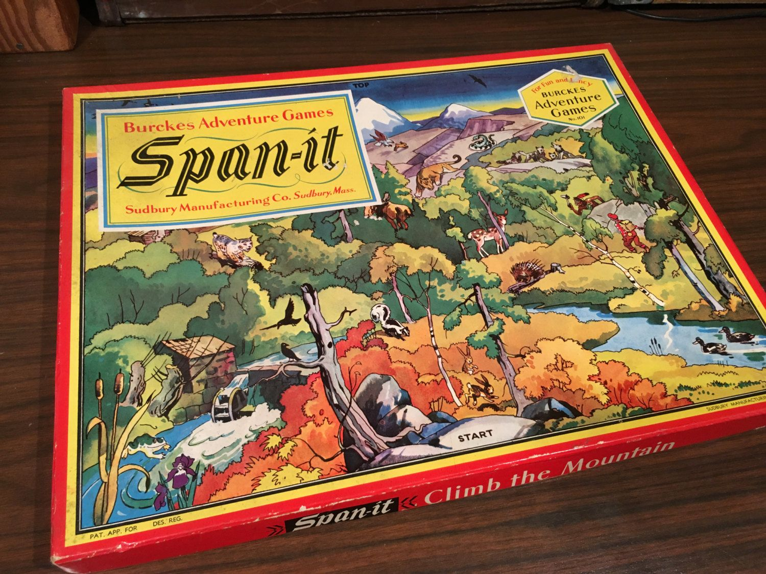 SpanIt Climb the Mountain Vintage Game Complete in Box