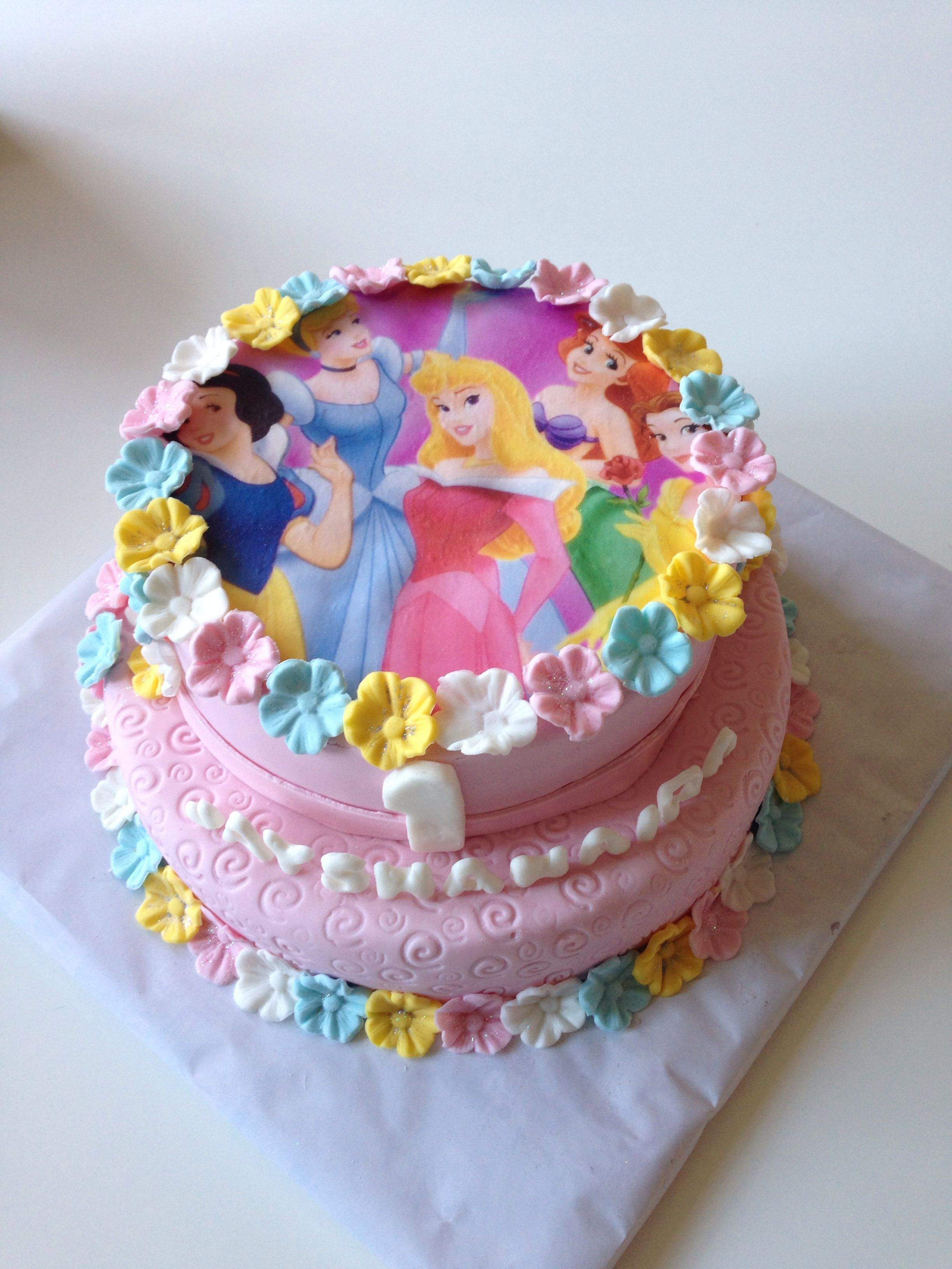Princess Cake Disney With Images Disney Princess Birthday