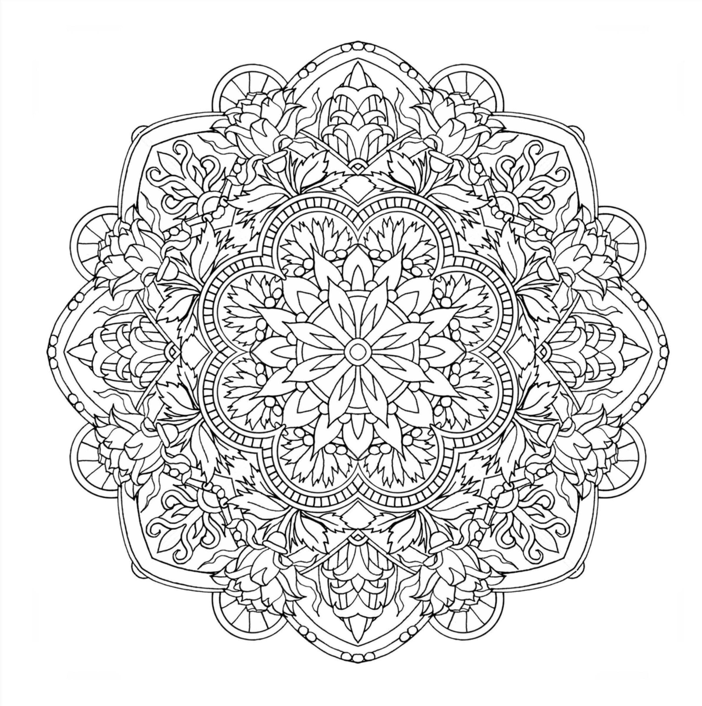 Flower Mandalas 心を整える花々のマンダラぬりえ 曼荼羅の