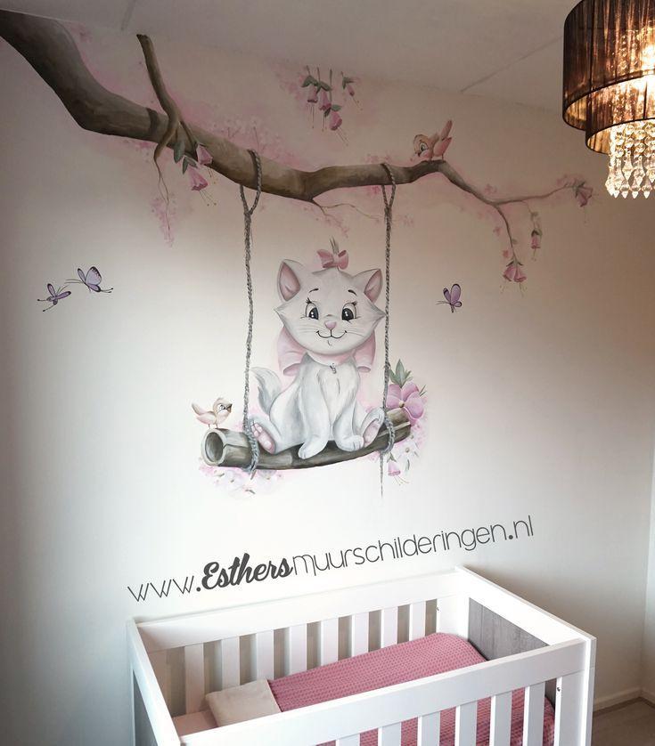 Muurschildering Aristokatten Marie Hoe Lief Voor Op De Babykamer