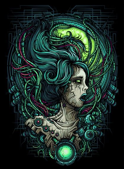 Dan Mumford Horror Art Dark Fantasy Art Album Art