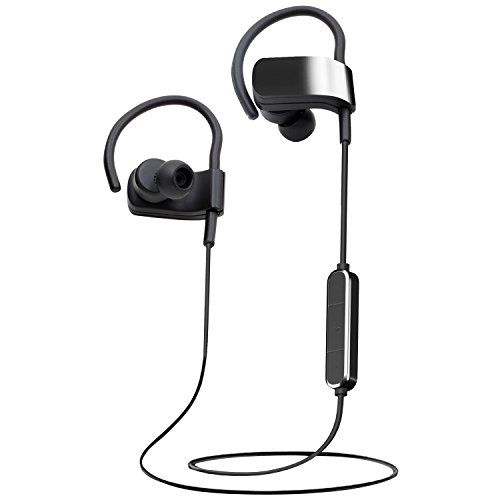 322e967e5fe Audiomate S12 Slim Sweatproof Wireless Bluetooth 4.1 Headphones Sports  Headset, Lightweight HD Stereo Earbuds with Magnetic Connection and  Built-in Mic ...