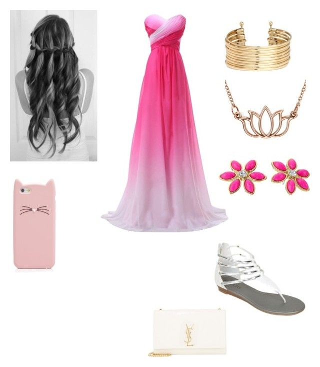 """""""HAZEL'S PROM OUTFIT"""" by lillyblainelarkins ❤ liked on Polyvore featuring Kate Spade, Stuller, H&M and Yves Saint Laurent"""