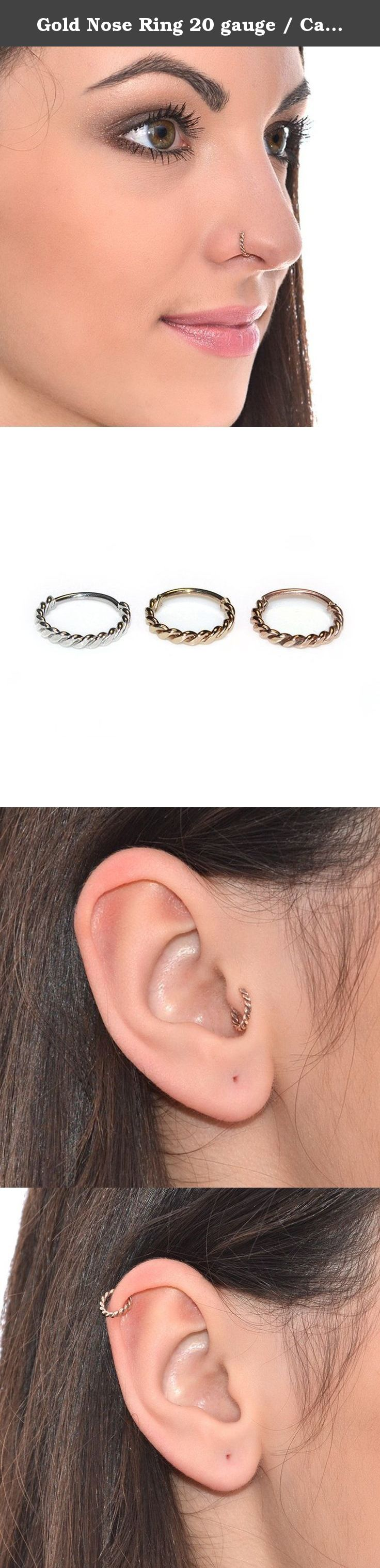 What is body piercing  Gold Nose Ring  gauge  Cartilage Earring Septum Piercing