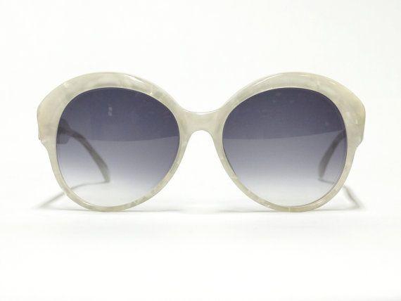 Oversized Designer Sunglasses, Eyeglass Frame, Robert la Roche, white sunglasses, 80s eyewear in unworn deadstock condition
