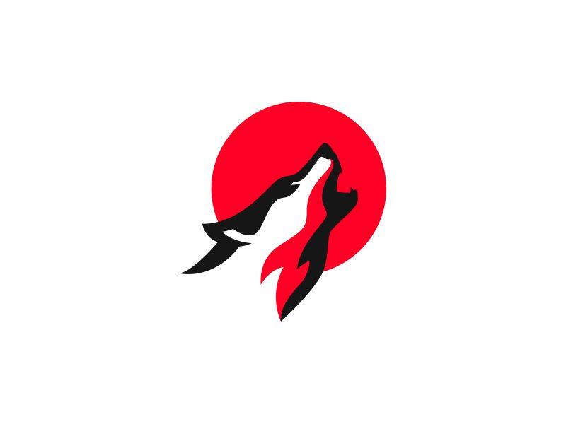 howling wolf logo inspirato drawing doodling pinterest logos rh pinterest com Wolf Vector Design Tribal Wolf Logo