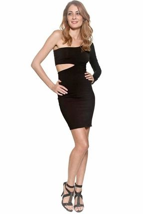 Donna Mizani Ultra Soft Classic Cut Out Dress in Black