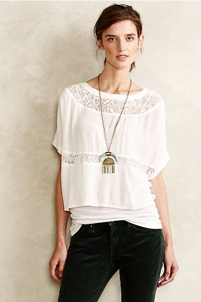 Laceswing Tee #anthropologie