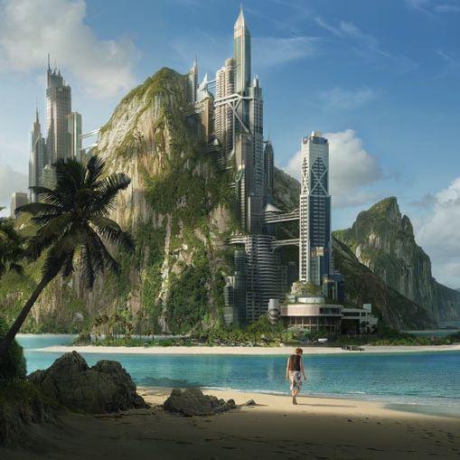 5 Free Solarpunk Music Playlists 8tracks Radio Futuristic City Fantasy Landscape Sci Fi Wallpaper