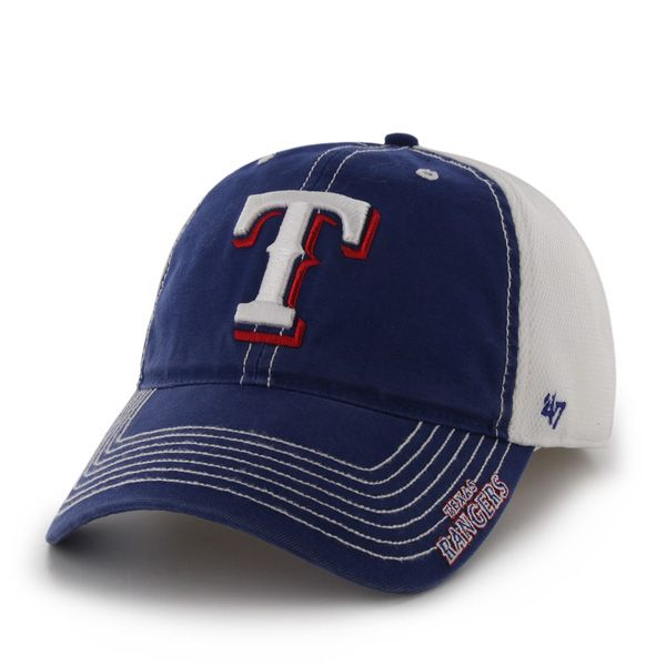 competitive price 9d439 e6cee Texas Rangers Ripley Royal 47 Brand Stretch Fit Hat