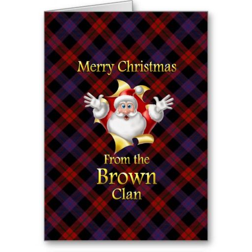 Merry christmas from the brown clan card tartan christmas merry christmas from the brown clan scottish tartan christmas greeting cards m4hsunfo