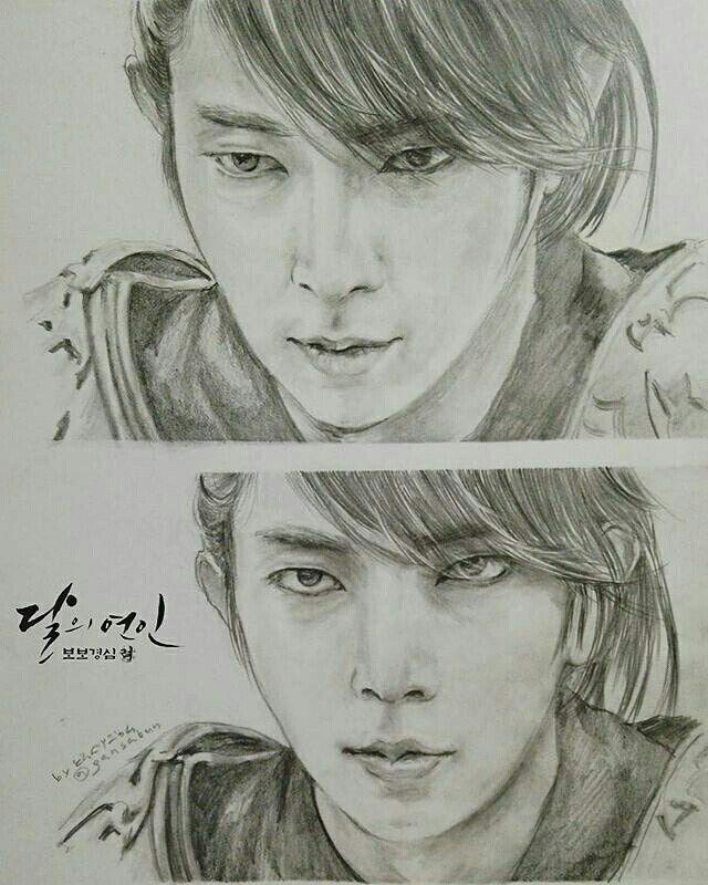 Pin By Risma Waty On Fan Art Collection Leejoongi Korean Art Moon Lovers Exo Drawing