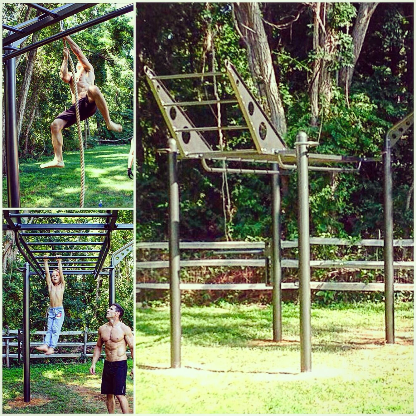 movestrong 4 post t rex outdoor functional training station new 4