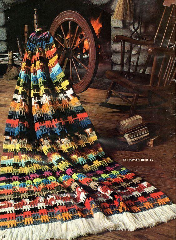 Afghan Crochet Pattern Thick Crochet Afghan Pattern Farm House or ...
