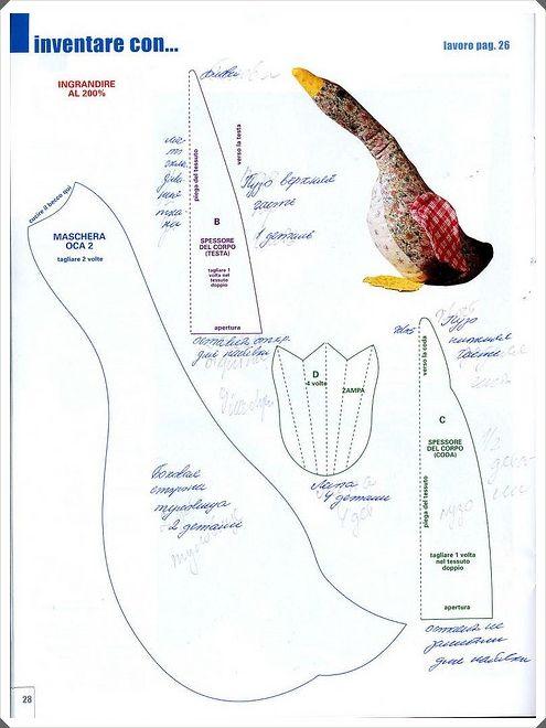 GANSO Y PATRON 2 | Varrott madarak-Sewn birds | Pinterest | Ganso ...