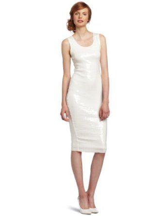#RobertRodriguez Women's Sequin Tank Dress #White #Fashion
