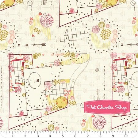 The Highlands Citrus Residential Yardage by Violet Craft for Michael Miller Fabrics
