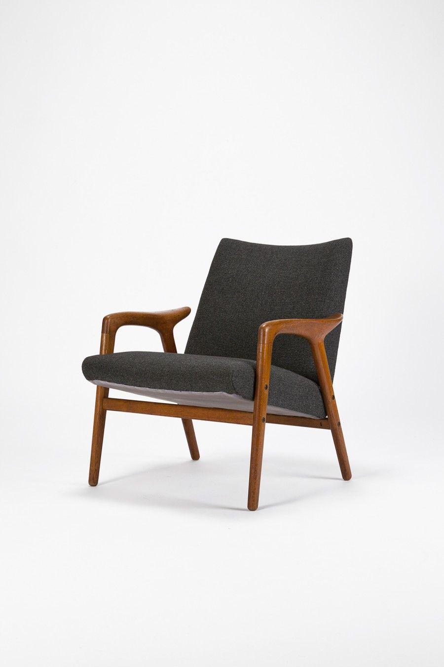 Yngve Ekstr 246 M Oak Easy Chair 1950s Chaired Accent