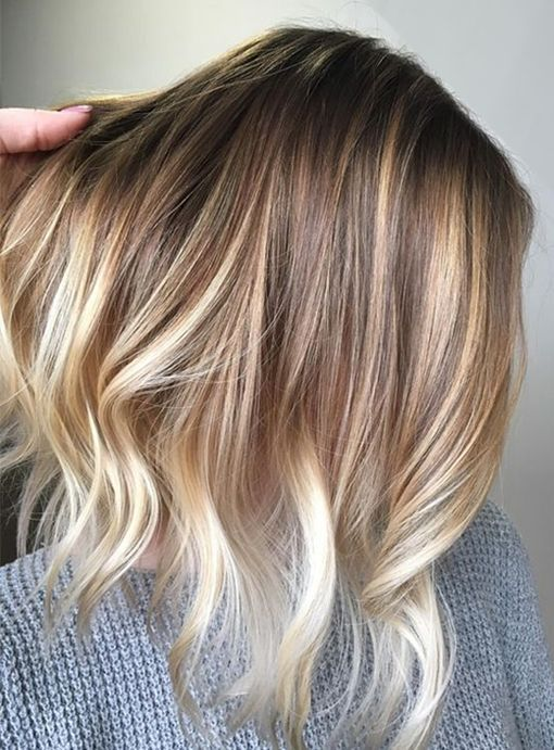 Blonde Balayage With Natural Pretty Hair Color Ideas For Short Hairstyles 2017 Blonde Ombre Short Hair Hair Styles Short Hair Balayage