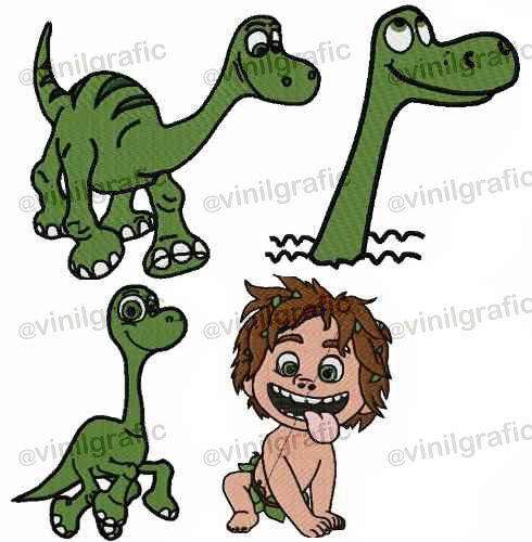 Der gute Dinosaurier-Satz von 4 Stickerei Designs von VGSTOREUS