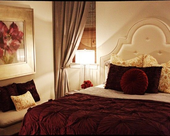 Bedroom Burgundy Design, Pictures, Remodel, Decor and Ideas ...