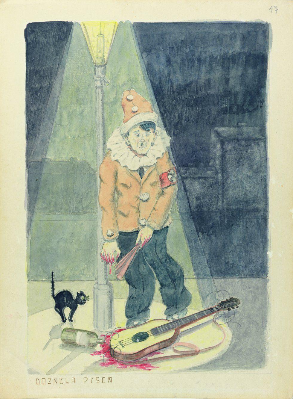 """Arte del Holocausto  """"La canción se acabó(1942)"""" Fantl (1903-1945)"""